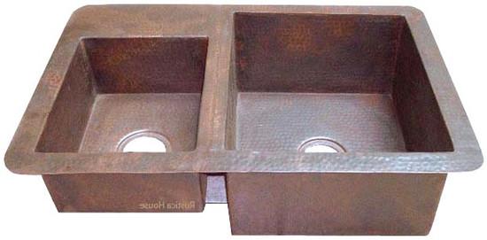 artisan made copper kitchen sink