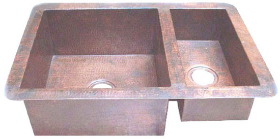 colonial copper kitchen sink