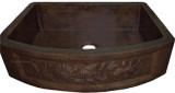 rustic copper apron kitchen sink