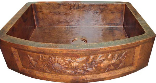 made to order copper apron kitchen sink