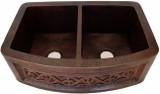 colonial copper apron kitchen sink