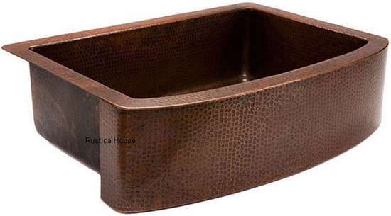 traditional copper apron kitchen sink
