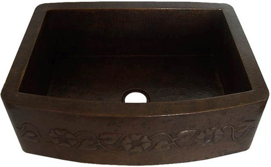 hand hammered copper apron copper kitchen sink