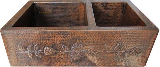 handmade copper kitchen apron sink