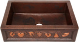 handcrafted copper kitchen apron sink