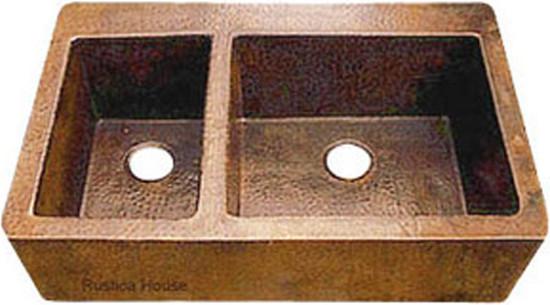 rustic copper kitchen apron sink