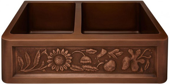 custom copper kitchen apron sink