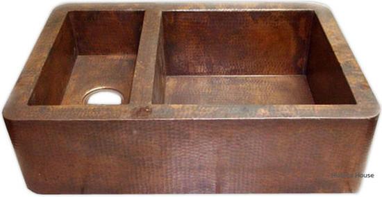 Santa Clara del Cobre copper kitchen apron sink