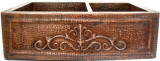 farmhouse apron copper kitchen sink