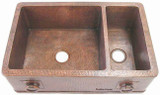 custom apron copper kitchen sink