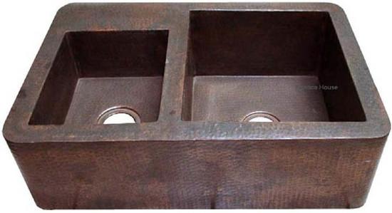 Santa Clara del Cobre apron copper kitchen sink