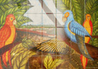 Colorful Birds wall tile mural