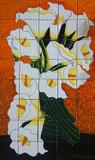 Bouquet of calla lilies beautiful tile mural