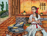 tile mural culinary traditions