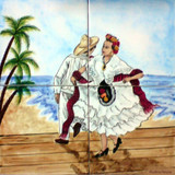 Jarocho dance kitchen tile mural