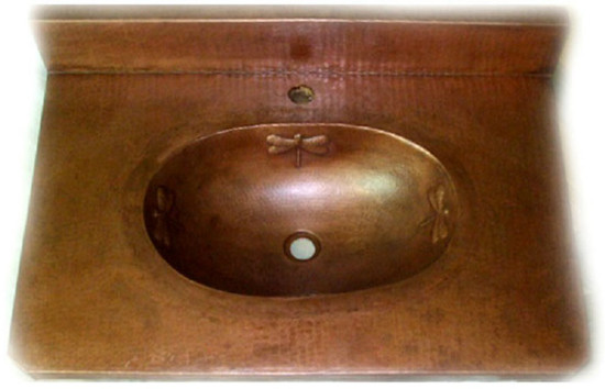 bath copper counter