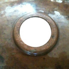 copper sink drain size