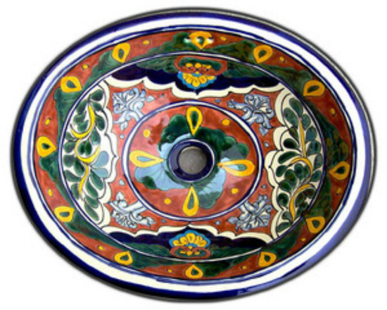 Hand painted mexican bathroom sink.