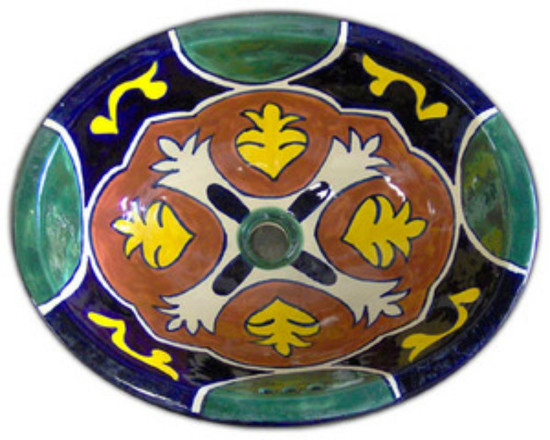 Painted mexican bathroom sink.