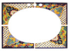 Hand painted ceramic mexican bathroom sink tiles.