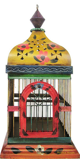 hand painted birdcage