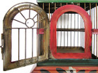 hand painted birdcage front