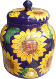 talavera sunflower water crock