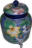 talavera flower water crock