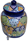 talavera folk art water crock
