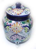 talavera yellow flowers water crock