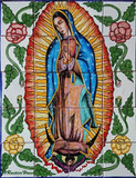 tile mural our lady of guadalupe