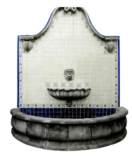 wall mount stone fountain