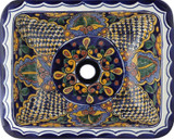 rectangular talavera sink artisan made