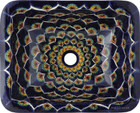 rectangular talavera sink Spanish