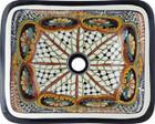 rectangular talavera sink Rustic