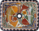 contemporary rectangular talavera sink