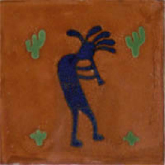 Mexican tile hand painted