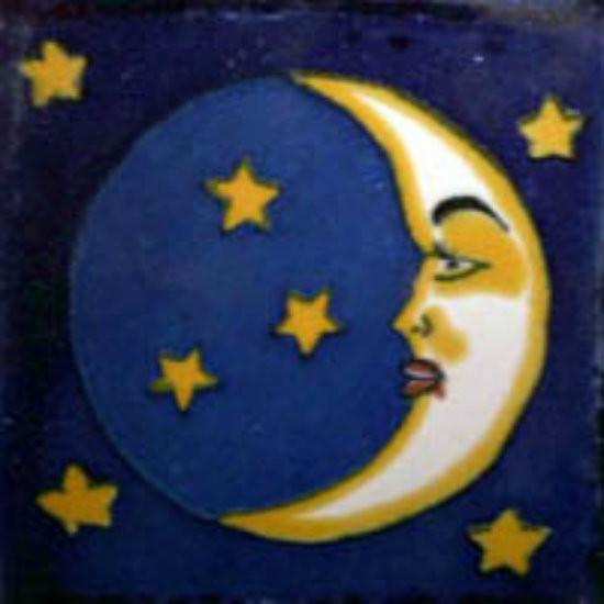 Mexican ceramic talavera tile luna 4