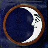 Hand Crafted Classic Ceramic Mexican Tile Luna