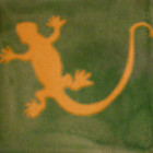 mexican tile lagartija yellow