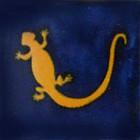 mexican tile lagartija blue