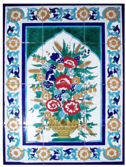 Moroccan style tile mural