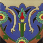 spanish relief tile green