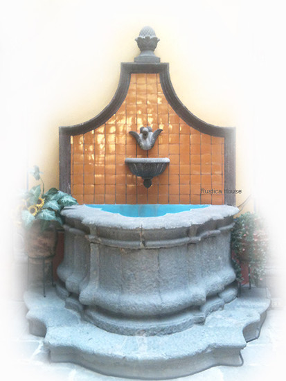 wall stone fountain