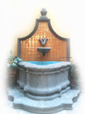 wall stone fountain