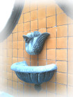 wall stone fountain decor
