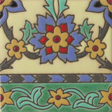 colonial relief tile yellow