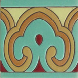 colonial hacienda relief tile brown