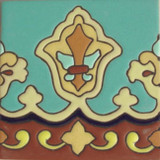 san miguel relief tile yellow