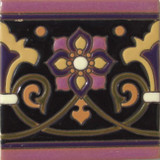 spanish relief tile navy blue